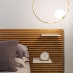 The Wood Slats Of This Headboard Are Designed For Shelves To Slot Into Them