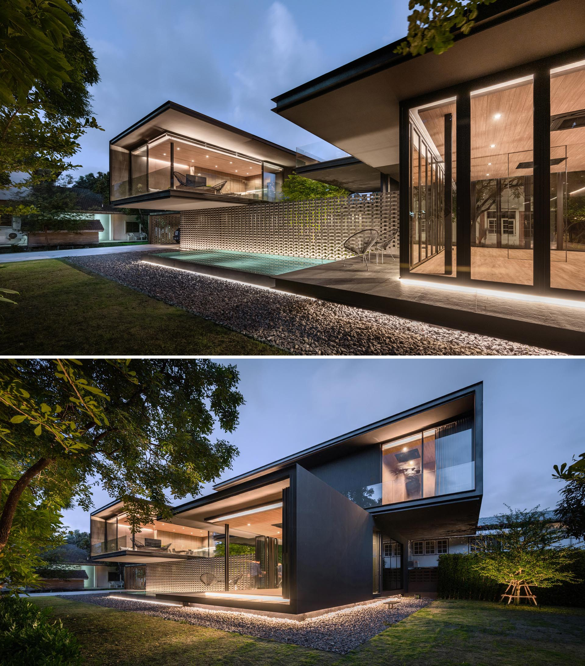 design feature on this modern house