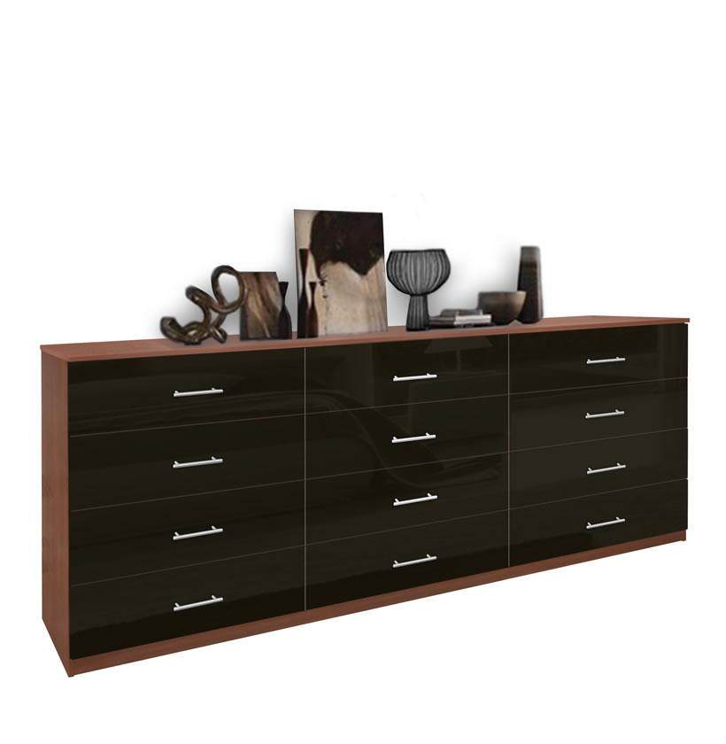 Modern 12 Drawer Triple Dresser Contempo Space