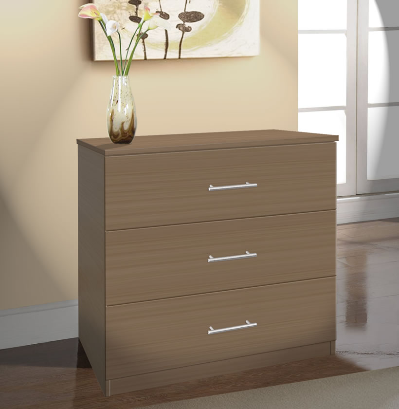 Double Chest Drawers White