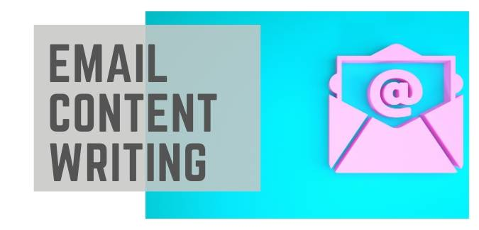 Email content writing services by content writing company