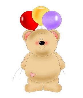 Birthday Balloon Bear Clip Art Birthday Balloon Bear Image
