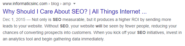 meta description in seo optimization
