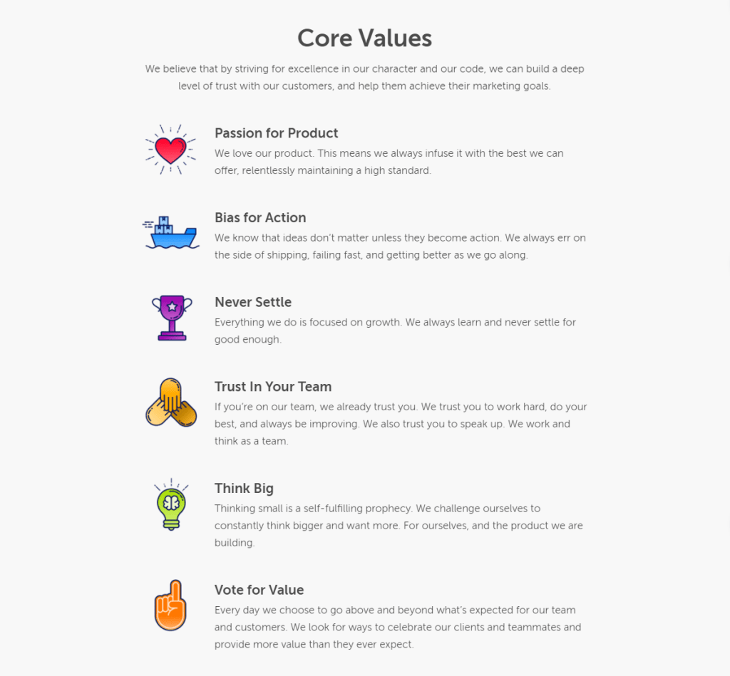 about coschedule core values