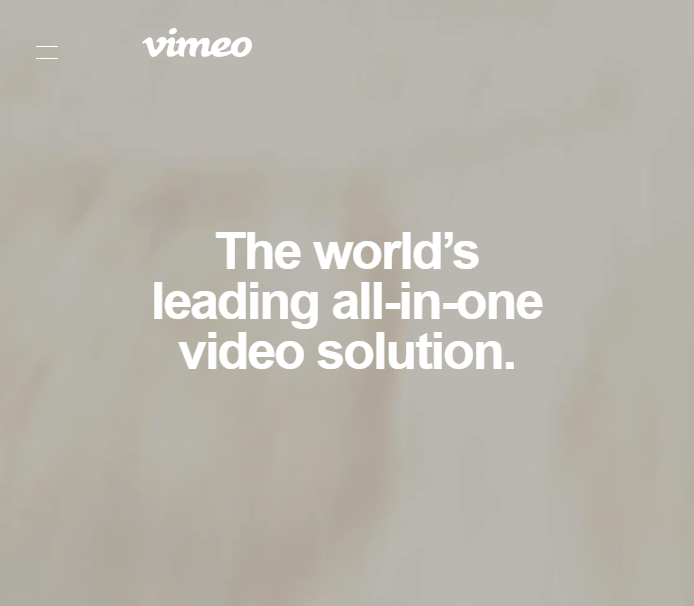 vimeo uvp on about page