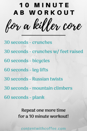 10 minute ab workout for a killer core