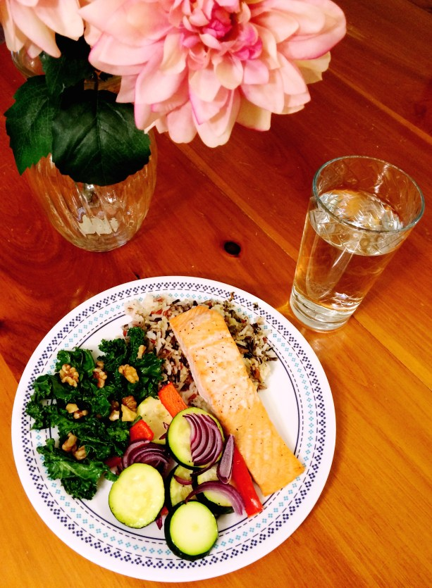 Salmon and Vegetable Healthy Dinner