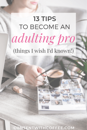 13 tips to become an adulting pro