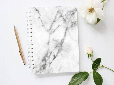 PlanMyEveryday Grey Marble Notebook