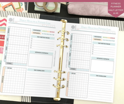 LittleChiquiPaperie Health and Fitness Planner Printable