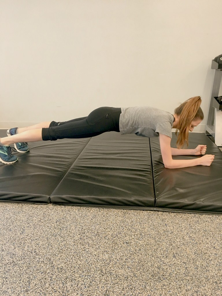 Correct plank form
