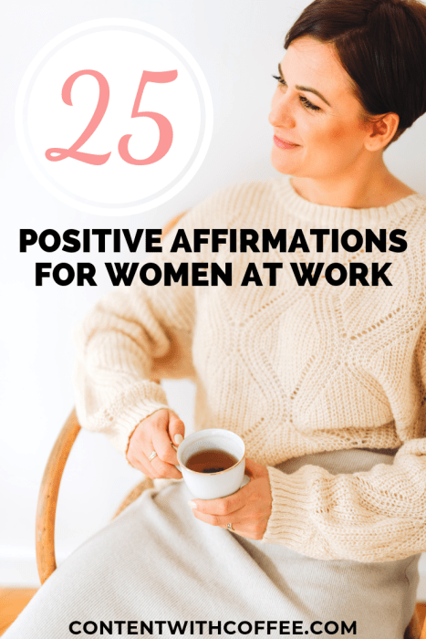Work getting you down? Here are 25 powerful and effective positive affirmations for women during at bad day at work. Trust me, these are the ultimate pick-me-up when you're feeling down. #positiveaffirmations #positiveaffirmationsforwomen #baddayatwork #bossbabe #adultingtips #careeradvice