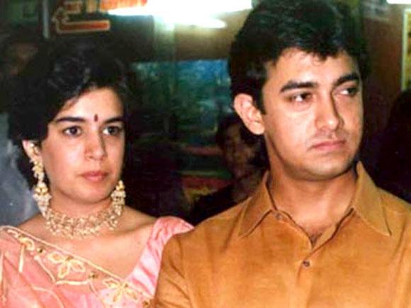 Reena Dutta with Aamir Khan