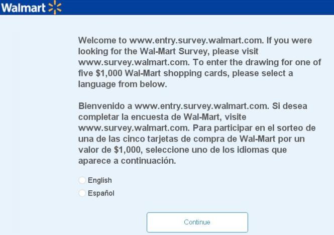 Walmart Survey 2018 February-April Sweepstakes – Chance to Win $1,000, $100 Walmart Gift Card