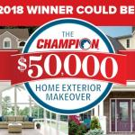 The Champion Home Exterior Makeover Giveaway – Stand Chance to Win $50,000 worth of Champion Windows and Home Exteriors Products
