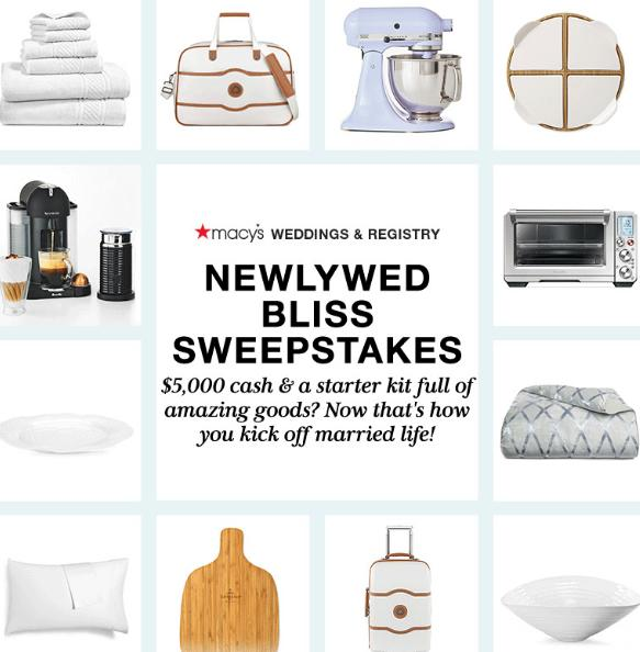 Macy's Newlywed Bliss Sweepstakes – Win $5,000 Cash Prize