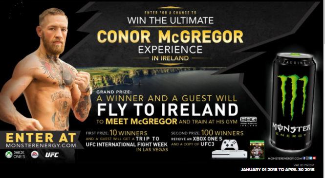 Monster Energy Ultimate Conor McGregor Experience Sweepstakes