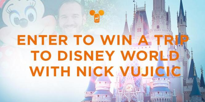 WaterBrook Press - Win A Day At Walt Disney With Nick Vujicic Sweepstakes   Win Tickets Magic Kingdom, Hotel Accommodation, Roundtrip and Transportation