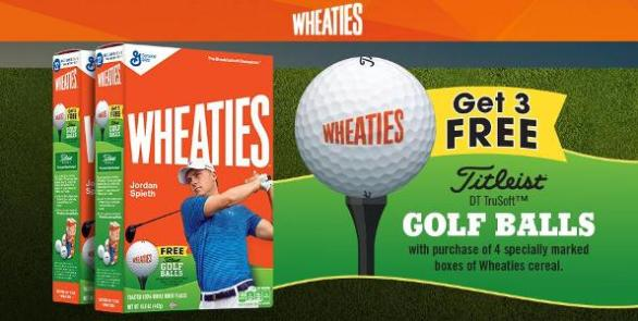 Wheaties Golf Ball Program – Stand Chance To Win Titleist DT Trusoft Golf Balls