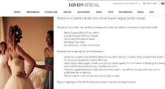 David's Bridal Win Your Wedding Sweepstakes – Stand Chance to Win Bridal Gowns