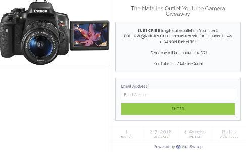 The Natalies Outlet Youtube Camera Giveaway – Stand Chance to Win an iPhone 8, $100 Amazon Gift Cards