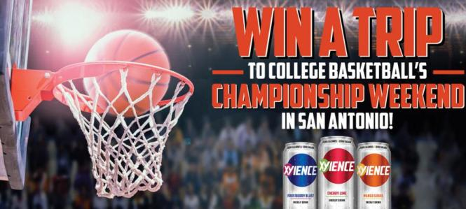 XYIENCE'S College Basketball Sweepstakes – Chance to Win a Trip to College Basketball's Championship Weekend in San Antonio