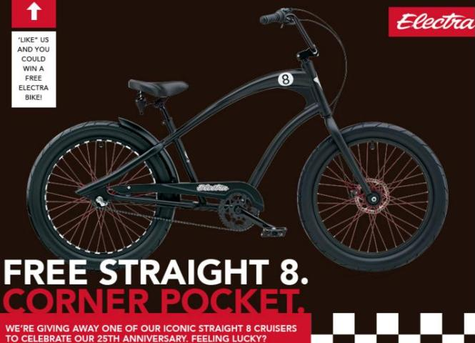Electra 25th Anniversary Campaign – Stand Chance to Win a Straight 8 Cruiser Bicycle