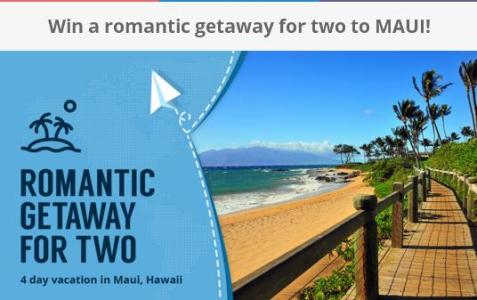 Galatic Cap Romantic Getaway For Two Sweepstakes – Stand Chance To Win Island of Maui
