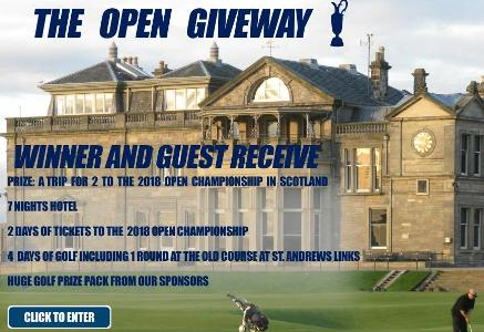 More Golf Today 2018 Open Championship Sweepstakes – Chance to Win a Trip for two the 2018 Open Championship in Scotland