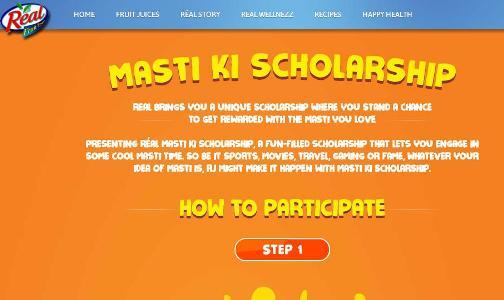 Real Fruit Power Masti Ki Scholarship Contest 2017 – Stand Chance to Win Free Travel Voucher