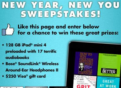 Year New You 2018 Audiobook Sweepstakes - Stand Chance To Win Bose Soundlink Wireless Around Ear Headphones