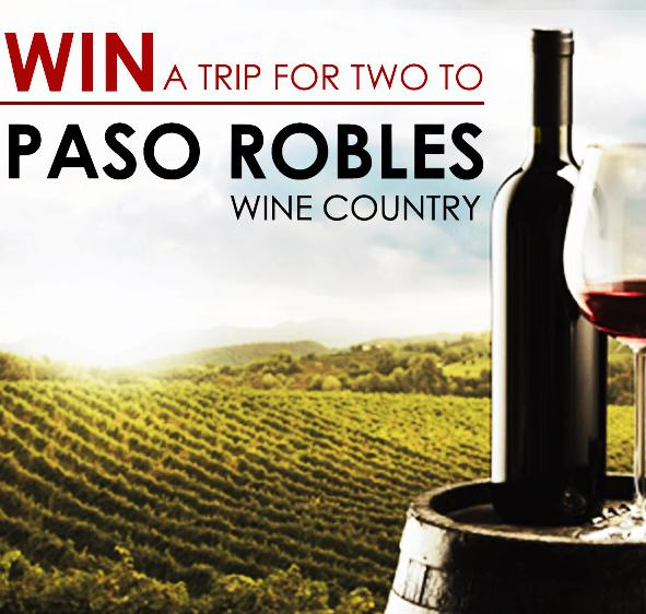 Paso Robles Trip For 2 Vacation Giveaway Sweepstakes – Chance to Win Trip Prize