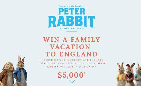 Joules Limited's Peter Rabbit Sweepstakes – Chance to Win A vacation to England