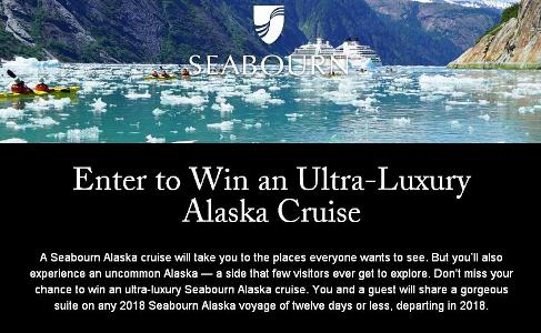 The 2018 Ultimate Alaska Cruise for Two Sweepstakes – Stand Chance to Win an Ultra-Luxury Alaska Cruise