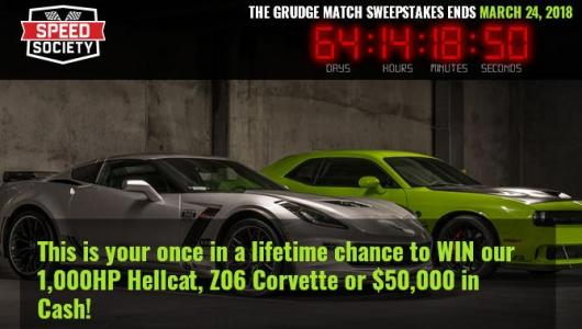 Grudge Match – Mopar vs Chevy Sweepstakes – Stand Chance To Win C7 Corvette Z06