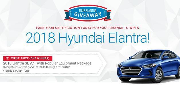 2018 Hyundai Elantra Sweepstakes – Chance to Win a brand new 2018 Hyundai Elantra