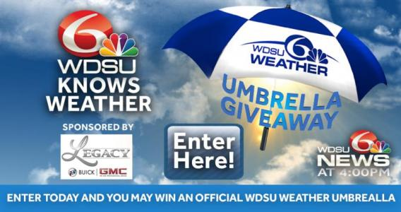 WDSU Knows Weather Umbrella Giveaway – Win Weather Umbrella