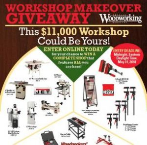 Popular Woodworking $11,000 Workshop Makeover Giveaway – Stand Chance to Win a Woodworker's Home Workshop