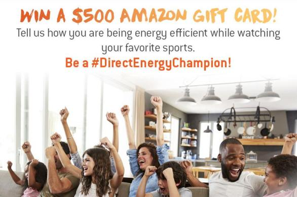 Direct Energy Champion Sweepstakes – Stand Chance to Win $500 Amazon.com Gift Card