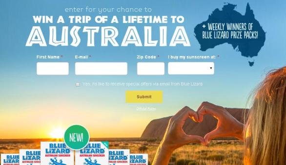Blue Lizard Australian Sunscreen Sweepstakes – Enter For Chance To Win A Family Trip To Australia