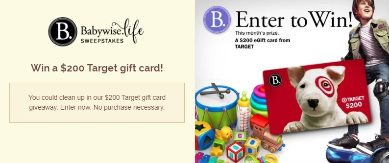 Babywise Life Sweepstakes - Enter For Your Chance To Win $200 Target Gift Card