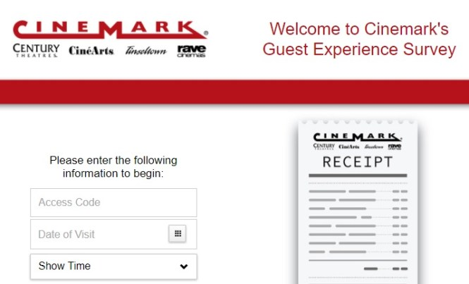 Cinemark Survey Sweepstakes - Enter To Opportunity To Win 52 Movie Passes Value $520