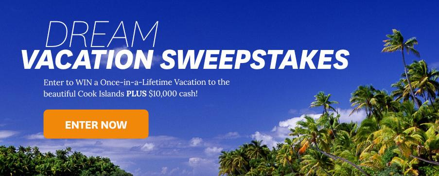 BHG Dream Vacation At Cook Islands Sweepstakes – Stand Chance to Win A trip to the Cook Islands Plus $10,000 Cash
