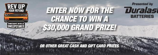 AutoZone Rev Up Your Refund Instant Win Game and Sweepstakes – Stand Chance to Win $30,000 Cash