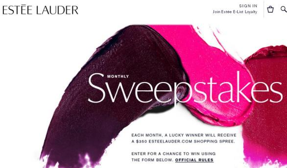 Estee Lauder Monthly Sweepstakes – Stand Chance To Win $350 Estee Lauder Shoping Spree