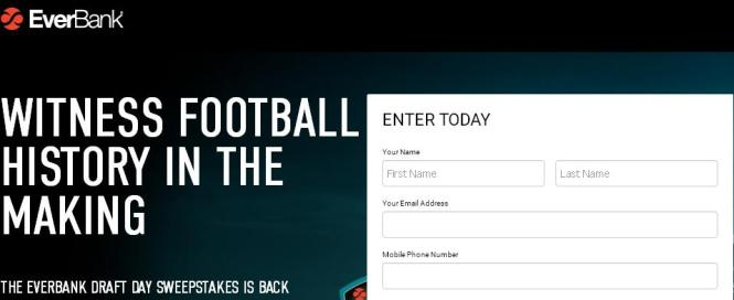 EverBank Draft Day Sweepstakes – Stand Chance to Win A Trip to Arlington, Texas for two, Tickets to the 2018 NFL Draft