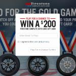 Firestone Go for the Gold Game Sweepstakes – Stand Chance to Win Firestone Complete Auto Care Gift Cards