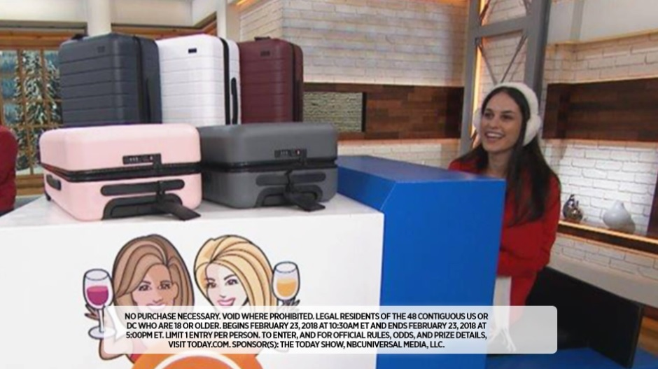 Kathie Lee and Hoda Winter Winezoni Giveaway (Day 10) 23rd February 2018 – Chance To Win Away Carry-on To 10 Viewers