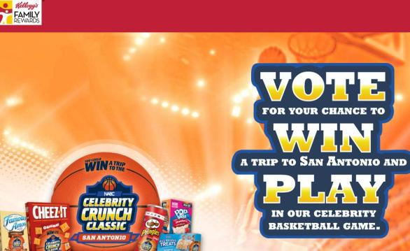 Kellogg - Celebrity Crunch Classic Sweepstakes | Participate and Chance to Win Trip to San Antonio