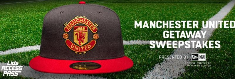 LIDS Access Pass Man U Getaway Sweepstakes – Enter For Chance To Win A Trip To See Manchester United Game